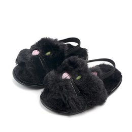 $enCountryForm.capitalKeyWord UK - New Baby Fur sandals 2019 summer Fashion Kids unicorn cat panda Slippers infant First Walkers newborn Walkers shoes kids cute First Walkers