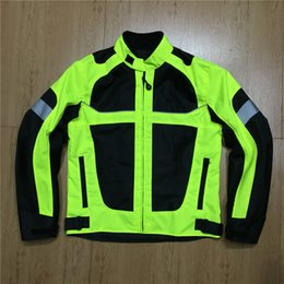 $enCountryForm.capitalKeyWord Australia - Motorcycle Jackets Men moto GP motocross motorbike Racing Jacket Riding Jersey summer breathable Reflective clothing Black Green