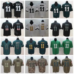 6a455f19c11 Usa eagles online shopping - Philadelphia Eagles Football Carson Wentz  Jersey Men Black White Green Vapor