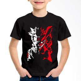 japanese anime clothes 2019 - Japanese Anime Naruto Printed Children Cotton T-shirts Kids Fashion Summer O-Neck Tees Boys Girls Soft Tops Baby Clothin