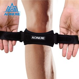 knee pain strap UK - ports & Entertainment AONIJIE E4067 Adjustable Patella Knee Strap Brace Support Pad Pain Relief Band for Hiking Soccer Basketball Volleyb...