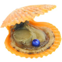Silver Oyster Shell Australia - Wholesale vacuum packaging red shell pearl oyster AAAAA grade round dyed pearls in oysters inside