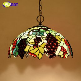 "$enCountryForm.capitalKeyWord Australia - FUMAT Stained Glass Pendant Lamp 16"" Glass Art Suspension Lights Living Room Garden Flower Baroque Kitchen Project Light Fixture"
