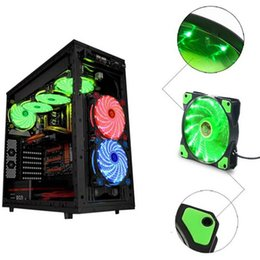 Cooling fan 12Cm online shopping - PC Computer Ultra Silent LEDs Case Fan Heatsink Cooler Cooling Pc Fan mm CM Fan V DC x x mm
