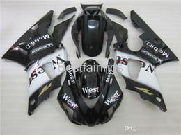 1999 yamaha r1 white fairing kit online shopping - ZXMOTOR Hot sale fairing kit for YAMAHA R1 white black fairings YZF R1 VC24