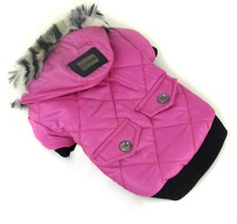 Discount waterproof dog jackets winter - Autumn Winter Warm Pet Dog Clothes Waterproof Puppy Cat Jacket Hooded Clothing For Small Pets Chihuahua Dog Outfit