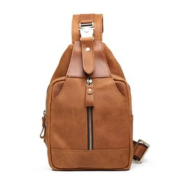 $enCountryForm.capitalKeyWord Australia - Crazy Horse Leather Soft Men's Chest Pack Retro Classic Bosom Bags Genuine Cow Leather Casual Man Messenger Bag Daypack