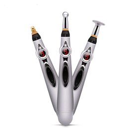 Pain Pens online shopping - Electric Pen Electronic Meridian Energy Body Massager Pain Instrument Massage Relaxation T190711