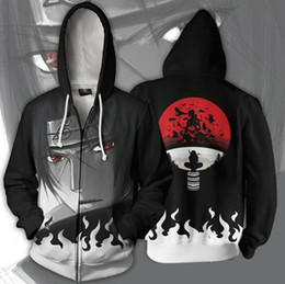 $enCountryForm.capitalKeyWord Australia - Uchiha Itachi hoodies Naruto fleece Hot role cos clothing Cartoon cosplay tops Print coat Outdoor cotton jacket Colorfast sweatshirts
