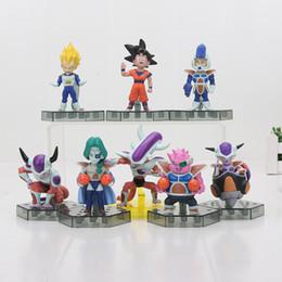 frieza figures 2019 - Toys Hobbies Action Toy Figures 8pcs set Dragon Ball Z Action Figure Son Goku Frieza Freeza Freezer Vegeta Zarbon PVC Mo