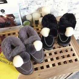 $enCountryForm.capitalKeyWord Australia - New Women Boots Winter outdoor keep Warm Fur Boots Waterproof Women's Snow Boots Thick with round head short boot jkm