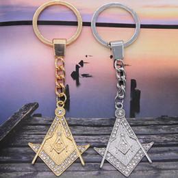 $enCountryForm.capitalKeyWord Australia - Triangle Shape Islamic Symbol Charm Keychain Religious Muslim Series Keychain Bag Pendant Car Key Accessories