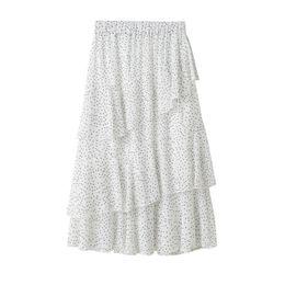 ac755a87f26 Sleeper # W401 2019 ЛЕТНЯЯ МОДА Пунктирная женская плиссированная юбка-пачка  с высокой талией Бисероплетение Тюль Миди-юбка белый черный Бесплатная  доставка