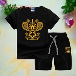 $enCountryForm.capitalKeyWord Australia - Children Sets 1-8T Kids T-shirt And Short Pants 2Pcs sets Baby Boys Girls 95% Cotton Diamond Design Printing Style Summer Sets