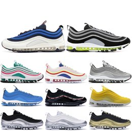 4f8bfcb069 97 97s Men Running Shoes Balck Metallic Gold South Beach PRM Yellow Triple  White 97s Designer Women Sports Sneakers US 5.5-11