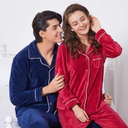 Christmas Pyjamas Women Australia - New couple sleepwear pijamas mujer  winter pyjamas warm pajamas set women 561091a19