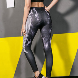 $enCountryForm.capitalKeyWord Australia - Women Tight Digital Print Yoga Sports Pants And Hips High Waist Thread Pants athletic leggings erings excercise baseball