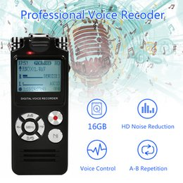 $enCountryForm.capitalKeyWord Australia - 16GB Multi-function lossless Voice Recorder USB Professional 15Hours Dictaphone Digital Audio Voice Recorder With WAV MP3 Player