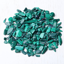 Garden Gravel Stones UK - Free shipping 100g Natural Malachite Gravel Crystal Rough Raw Stone Rock Mineral Specimen Fish Tank Garden Decoration