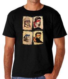 Leonardo Raphael Donatello Michelangelo TMNT Cientistas dos homens Comédia T-Shirt 100% Algodão Legal Nova Moda de manga curta tshirt Tops em Promoção