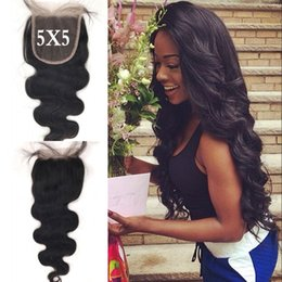 tangle shed free hair Australia - 100% Virgin Human Hair 5x5 Lace Closure Body Wave Free Part 8-26inch No Tangle No Shedding Free Shipping FDSHINE HAIR