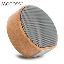 Audio Tablet Australia - ZZYD A60 Mini Portable Retro Wood Grain Audio Bass TF Card Aux-in USB Smart Phone Tablet Computer Music Player for Home Indoor Outdoor