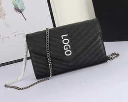 luxury chains Australia - Caviar Leather High Quality Brand Designer Purse Women Luxury Chain Bags Luxury Purse Fashion Shoulder Bags Message Bags 1740