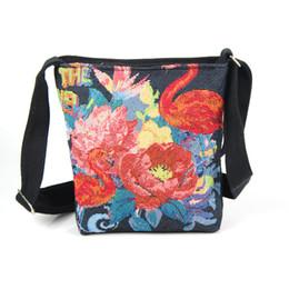 Flamingo handbags online shopping - Designer Vintage Women Mini Shoulder Bags Cute Flamingo Printed Flap Handbags For Female Canvas Small Messenger Bag