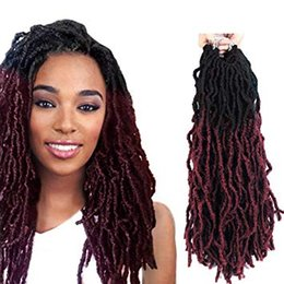 $enCountryForm.capitalKeyWord Australia - Synthetic Wavy Faux Locs Crochet Hair 18 Inch (NATURAL BLACK) - Dreads Crochet Hair Dreadlock Extensions - Synthetic Hair Extensions Crochet