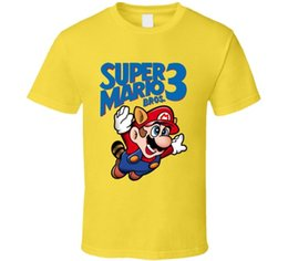 $enCountryForm.capitalKeyWord UK - Super Mario Bros. 3 Retro Nes Box Art Video Game T ShirtFunny free shipping Unisex Casual Tshirt