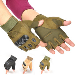 Half fingers tactical gloves online shopping - New Tactical Half Finger Glove Riding Cycling Gloves Antiskid Combat Bodybuilding Outdoors Sports Man Gloves ZZA1069
