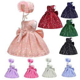 Wholesale ball dance dresses for sale - Group buy Cute Baby Princess Bowknot Dresses Formal Party Lace Dresses Casual Slim Gown Dance Tunic Photography Costume TTA633