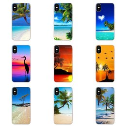 iphone spray Canada - Custom TPU Original Sea Beach Spray Palm Trees Tropical For Huawei P7 P8 P9 P10 P20 P30 Lite Mini Plus Pro Y9 Prime P Smart Z 2018 2019