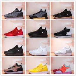 6d3f4b73ec6 2019 ZOOM KD Kevin Durant 11 XI seattle Paranoid Emoji cool grey Triple  Black Elite For Mens Basketball Shoes Athletic Sport Sneakers