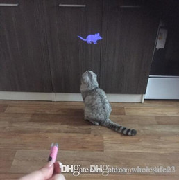 Wholesale Lighting Toys Australia - Free Shipping Amazingly Cat Toy Creative and Funny Pet Cat Toys LED Pointer light Pen With Bright Animation Mouse