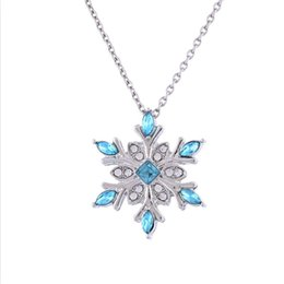 Christmas Gifts Female Australia - The temperament natural Gemstone necklace, silver zirconia snow necklace Christmas gift pendant necklace, male and female necklace