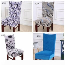 wedding chair wholesale Canada - Chair Cover Velvet Elastic Chair Slipcovers Solid Colors Seat Case Dining Room Seat Cover Home Hotel Wedding Decorations31 Colors WZW-YW3286