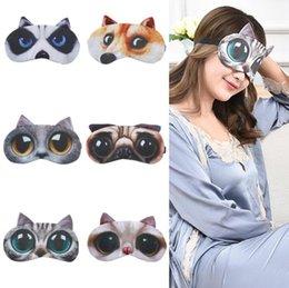 Shades Christmas Australia - Cartoon 3D Animal Printed Sleep Eye Mask Eye-shade Cover Travel Comfortable Aid Sleeping Eye Blindfold Care Tool Mixed Free Shipping