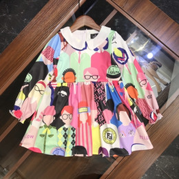 $enCountryForm.capitalKeyWord Australia - fenash7 Skirt England The Wind Child Suit Girl Spring And Autumn princess Dress In Child Children Printing Girl Dress 0818