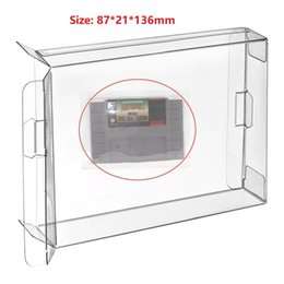 h case NZ - H 10Pcs Clear Cartridge Box Case Sleeve CIB Protector for SNES US Version SFC Games Cartridge Box Sleeve Japan Version