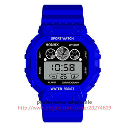 Опт Плексиглас зеркало HONHX часы работает наручные часы хронограф календарь дата кварцевые водонепроницаемые цифровые часы Relojes