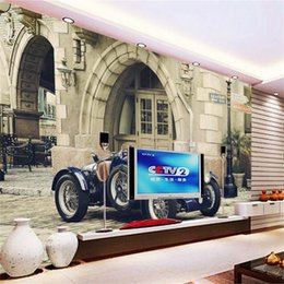 chinese car style Canada - custom size 3d photo wallpaper livingroom bedroom kids mural tractor-style classic car brick picture sofa TV backdrop wallpaper wall sticker