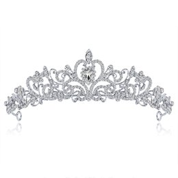 $enCountryForm.capitalKeyWord UK - Europe and the United States high-end bridal tiara crown Princess tiara alloy rhinestone wedding dress big crown wholesale