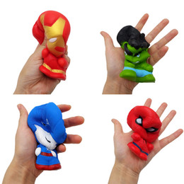 rubber spiders Australia - Squishy Slow Rising Jumbo Toys Avengers Captain The Hulk Superhero Spider Man Stress Relieve Dolls Squeeze Decompression Toy Kids Gifts