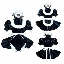 Wholesale custom made costume movie for sale – halloween Sissy Maid PVC dress Romper sissy boy CD TV Tailor made