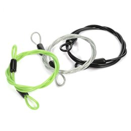 Cable Ends Australia - 100cm*0.4cm Mini Cycling Sport Security Loop Cable Lock Bike Bicycle Scooter Double Ended U-Lock Steel Rope Lock #41946