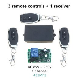 learning switch Australia - 20pcs AC 110V 220V 1CH RF 433Mhz Wireless Remote Control Switch Learning CodeController and 3pcs Remote