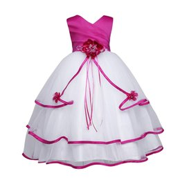 Big Girls Pageant Dresses NZ - New Cute Formal Occasion Party Brithday Dress Little Big Girl's Pageant Flower Girl Dress Kids Clothing party