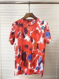 Sh Fashion Australia - Men's Women's T-Shirt Designers Clothing Fashion Letter Print Short Sleeve Luxurys 3D Oil Painting Print Pattern Top Colorful T-Sh