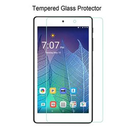 toughest screen protector NZ - For Alcatel POP7 P310X C7 PIXI 3 4 High Quality Tough Protective Clear Tempered Glass Screen Protector With Retail Packaging